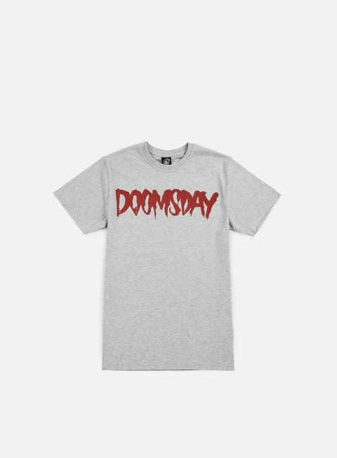 t shirt doomsday logo t shirt grey red