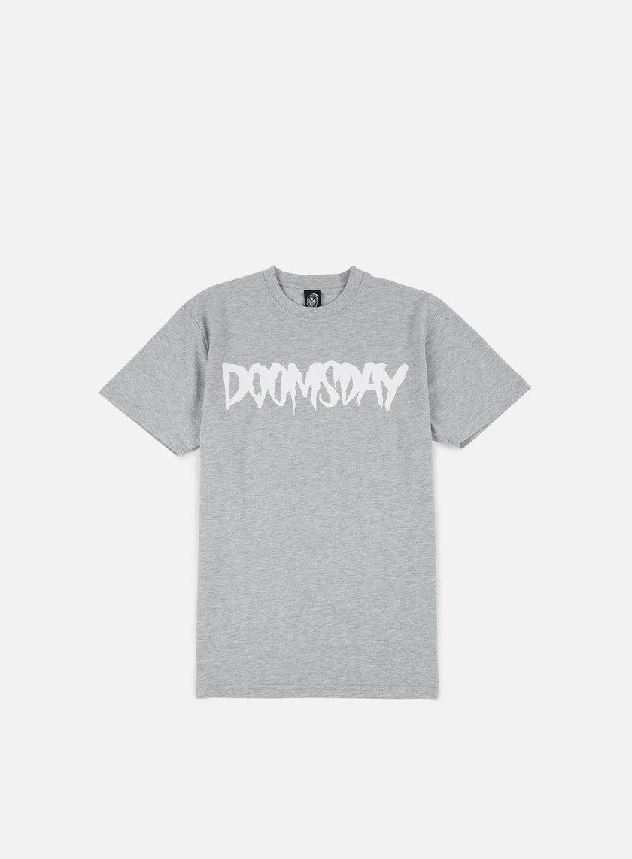 Doomsday - Logo T-shirt, Sport Grey/White
