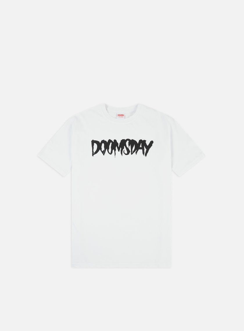 Doomsday - Logo T-shirt, White/Black