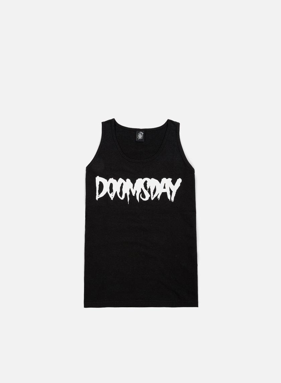 Doomsday - Logo Tank Top, Black/White