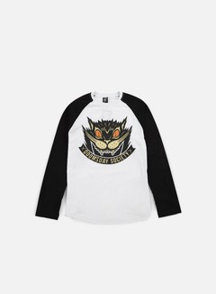 Doomsday - Stray Cat LS T-shirt, White/Black 1