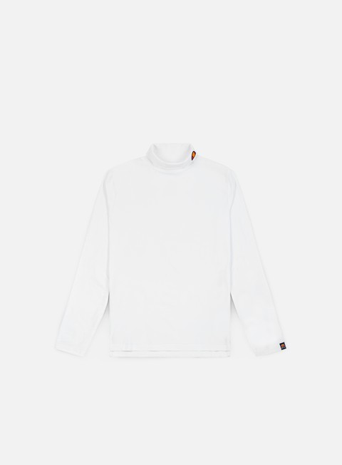 t shirt ellesse amica roll neck top ls t shirt optical white