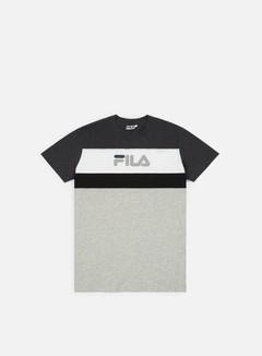 Fila - Aaron T-shirt, Light Grey Melange/White
