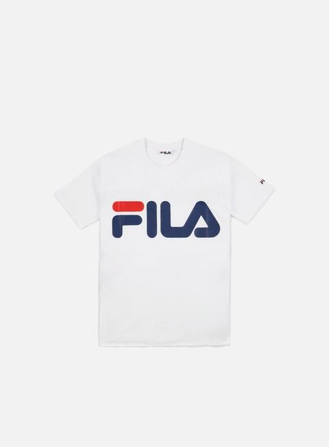t shirt fila classic logo t shirt bright white
