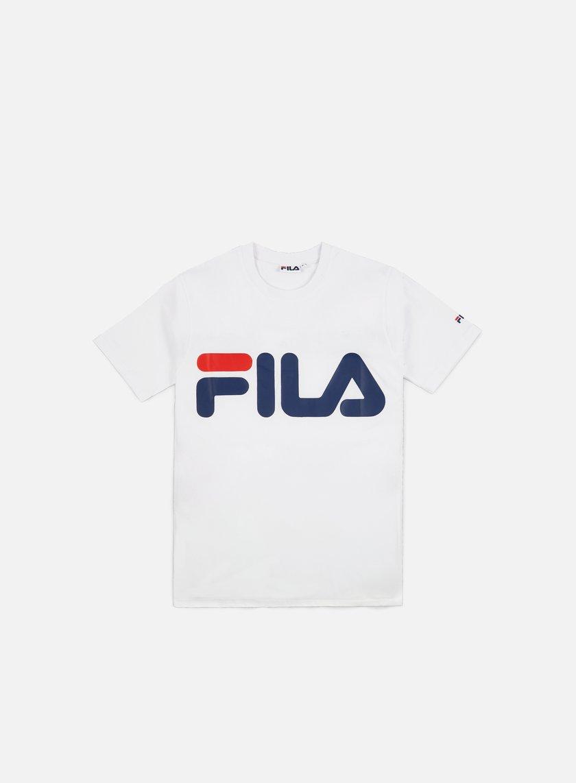 fila classic logo t shirt bright white 29 00 680427 m67 t shirts short sleeve graffitishop. Black Bedroom Furniture Sets. Home Design Ideas