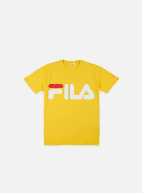 t shirt fila classic logo t shirt lemon