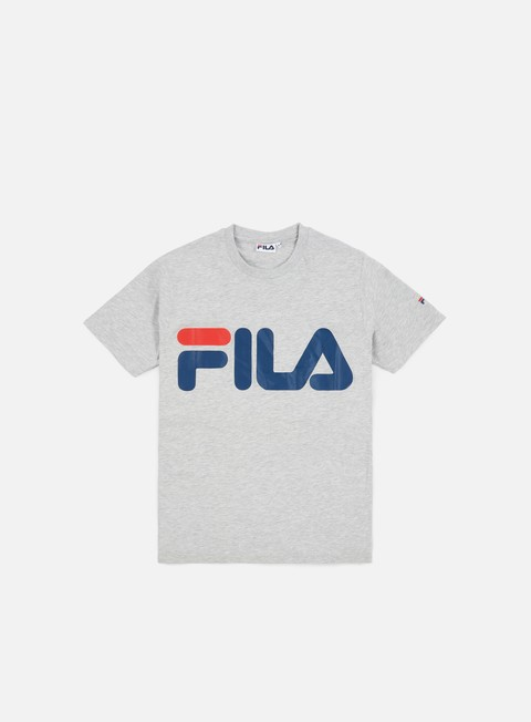 t shirt fila classic logo t shirt light grey melange