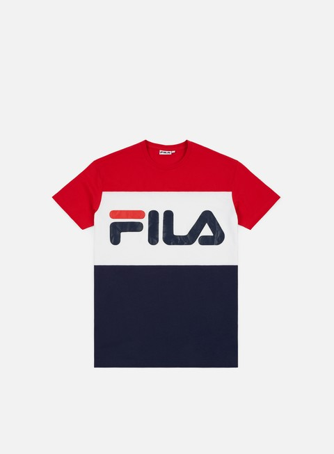 t shirt fila day t shirt black iris bright white true red