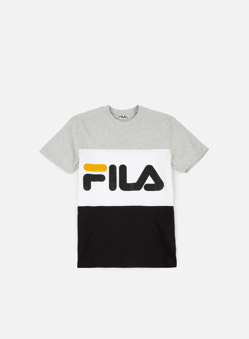 Fila - Day T-shirt, Bright White/Light Grey Melange/Black