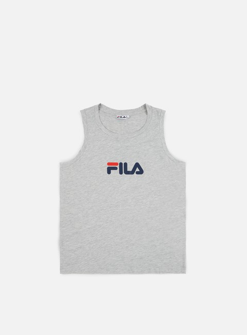 t shirt fila kent base tank light grey melange