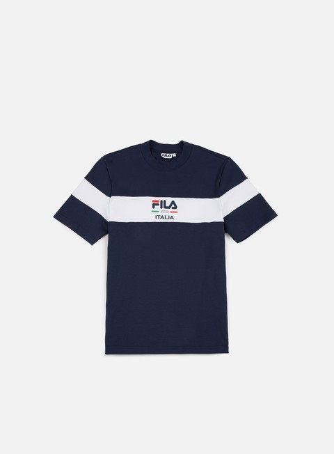 t shirt fila mitch t shirt black iris bright white
