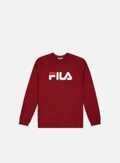 Fila - Pure LS T-shirt, Merlot