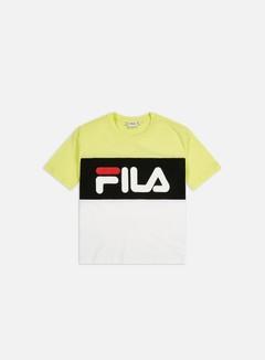 Fila - WMNS Allison T-shirt, Limelight/Bright White/Black