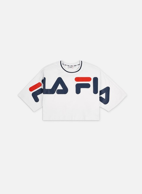 Sale Outlet Short Sleeve T-shirts Fila WMNS Barr Cropped T-shirt