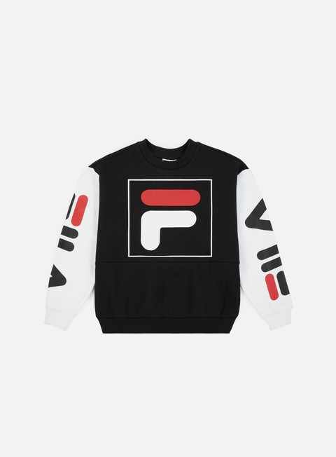 t shirt fila wmns date 20 crewneck black bright white