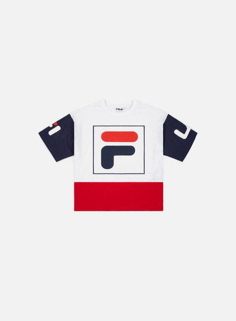 Sale Outlet Short Sleeve T-shirts Fila WMNS Late Cropped Top 2.0 T-shirt