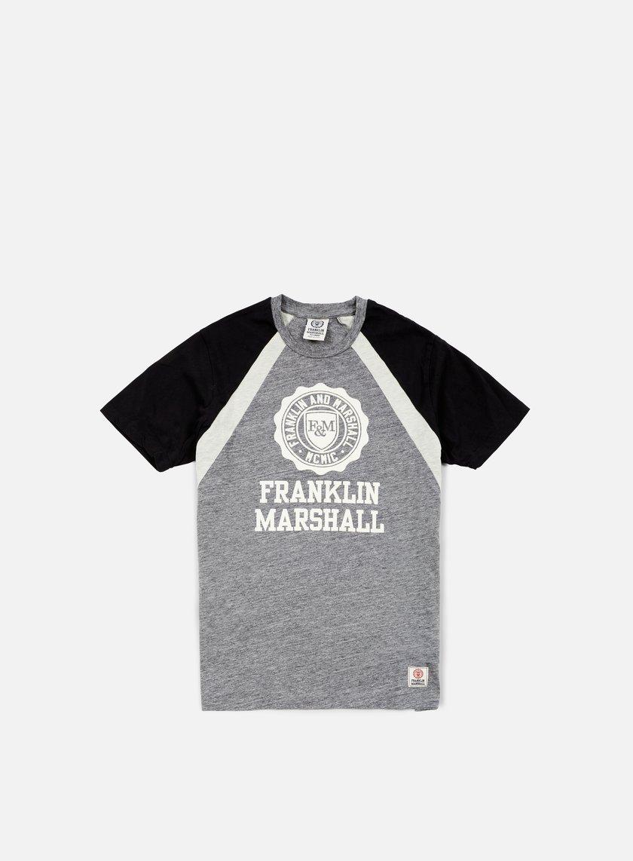 Franklin & Marshall - Alumni Logo T-shirt, Smoke Melange