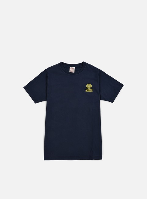t shirt franklin e marshall basic logo embroidery t shirt navy