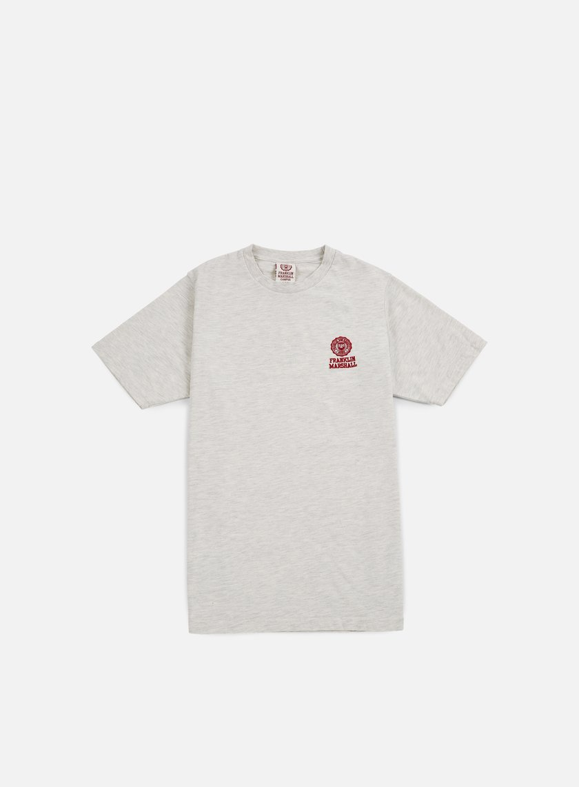 Franklin & Marshall - Basic Logo Embroidery T-shirt, Original Grey