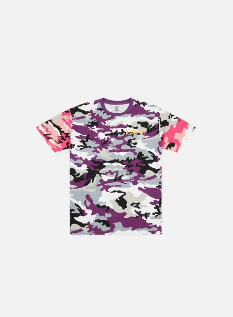 Short Sleeve T-shirts Franklin & Marshall Sfera Ebbasta All Over Camo Print T-shirt