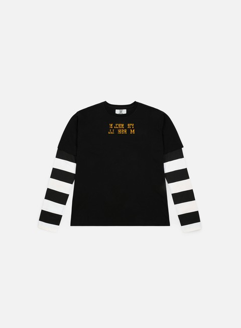 Sale Outlet Long sleeve T-shirts Franklin & Marshall Sfera Ebbasta Striped Sleeves LS T-shirt