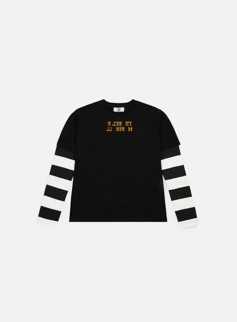 znana marka sklep internetowy urok kosztów Sfera Ebbasta Striped Sleeves LS T-shirt