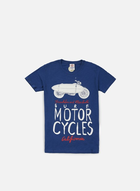 t shirt franklin e marshall surf motor cycle t shirt original blue
