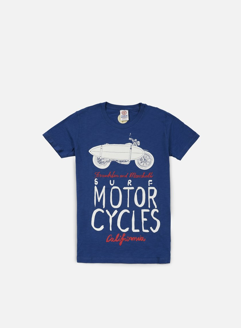 Franklin & Marshall - Surf Motor Cycle T-shirt, Original Blue