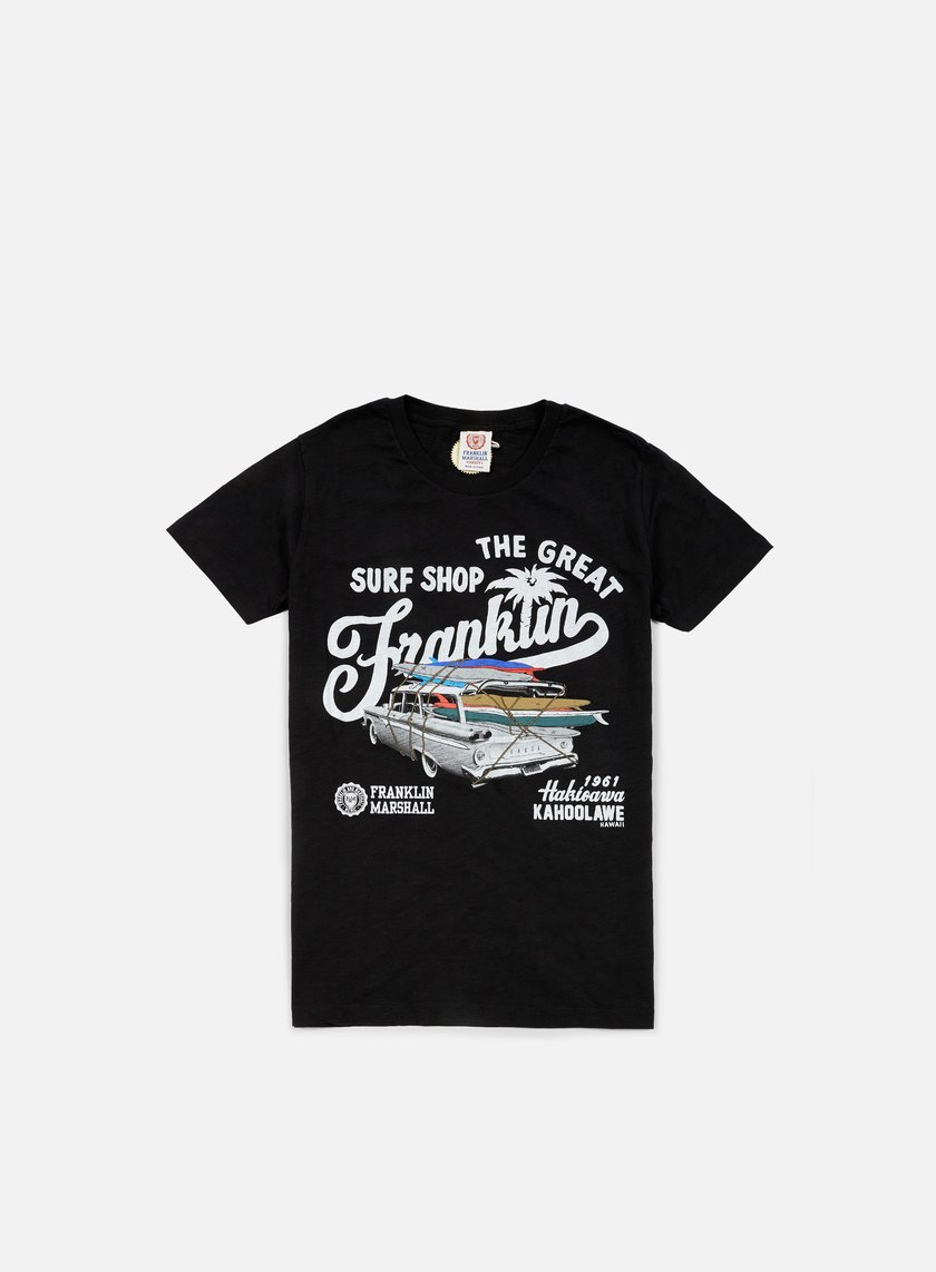 Franklin & Marshall - The Great Surf Shop T-shirt, Black
