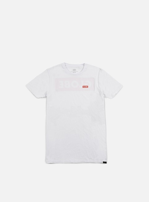 t shirt globe block t shirt white