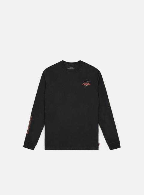 t shirt globe flash ls t shirt washed black