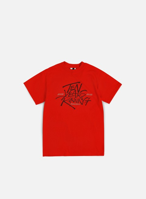 t shirt graffitishop  bean ten years running tee red