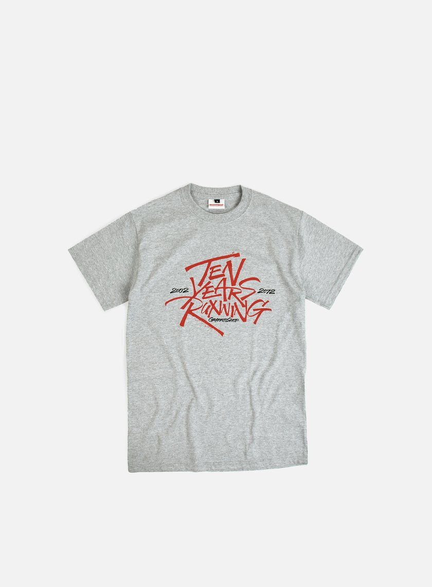 Graffitishop - Bean > Ten Years Running Tee, Heather Grey