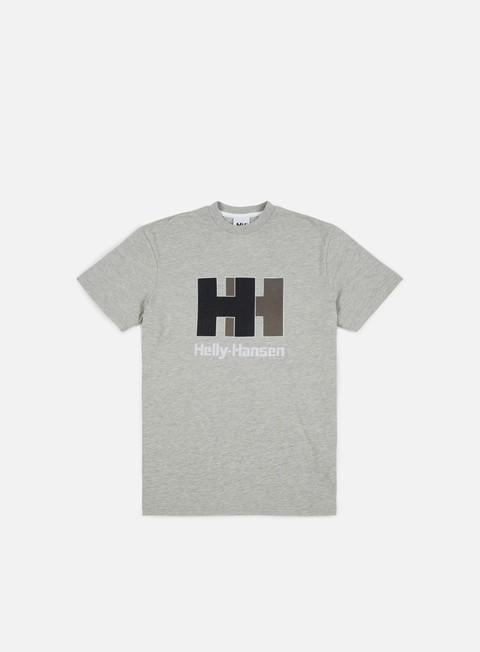 t shirt helly hansen hh chenille logo t shirt grey melange
