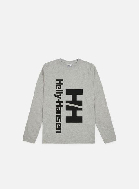 t shirt helly hansen hh heritage ls t shirt grey melange