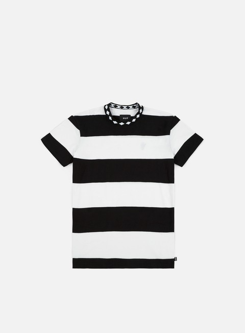 t shirt huf ace stripe t shirt black