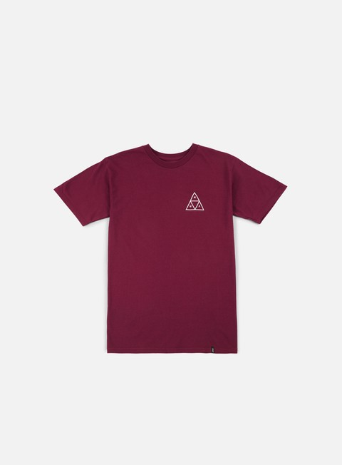 t shirt huf ambush triple triangle t shirt maroon