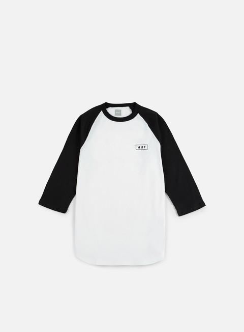Short Sleeve T-shirts Huf Bar Logo 3/4 Raglan T-shirt