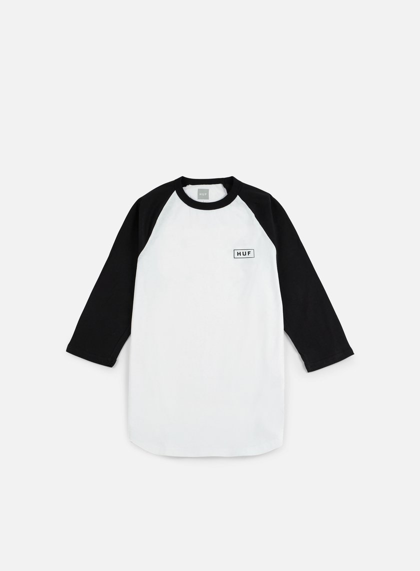 Huf - Bar Logo 3/4 Raglan T-shirt, White/Black