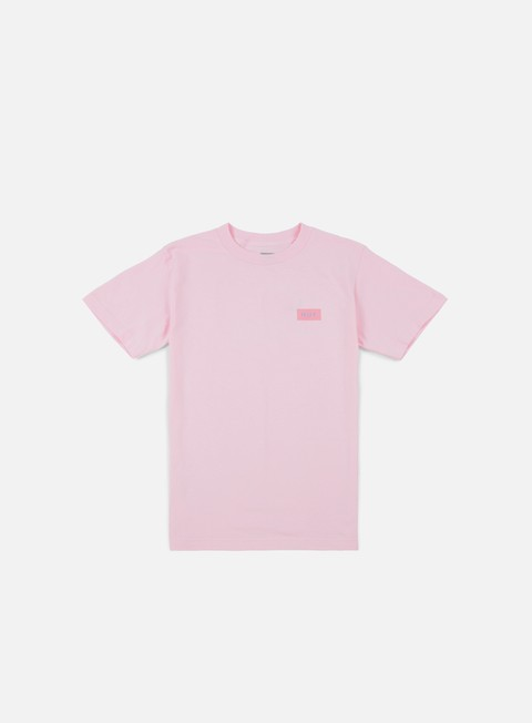 t shirt huf bar logo flock t shirt pink