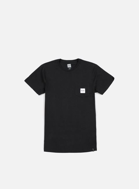 t shirt huf box logo pocket t shirt black