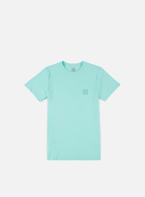 t shirt huf box logo pocket t shirt celadon