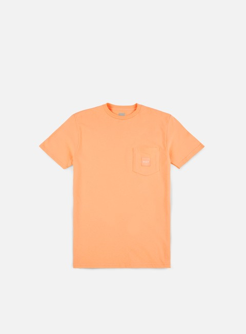 t shirt huf box logo pocket t shirt peach