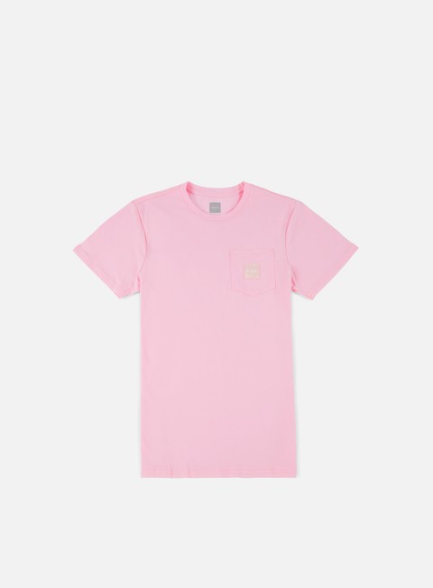 t shirt huf box logo pocket t shirt pink