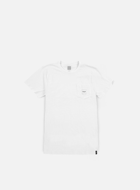 t shirt huf box logo pocket t shirt white