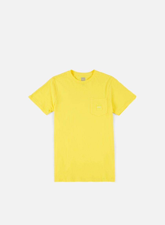 Huf - Box Logo Pocket T-shirt, Yellow