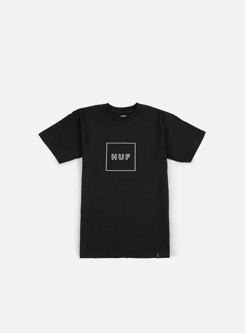 t shirt huf box logo puff t shirt black