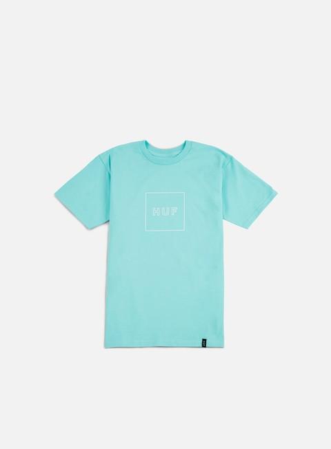 t shirt huf box logo puff t shirt celadon