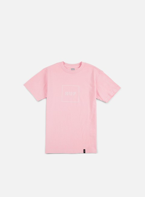 t shirt huf box logo puff t shirt pink
