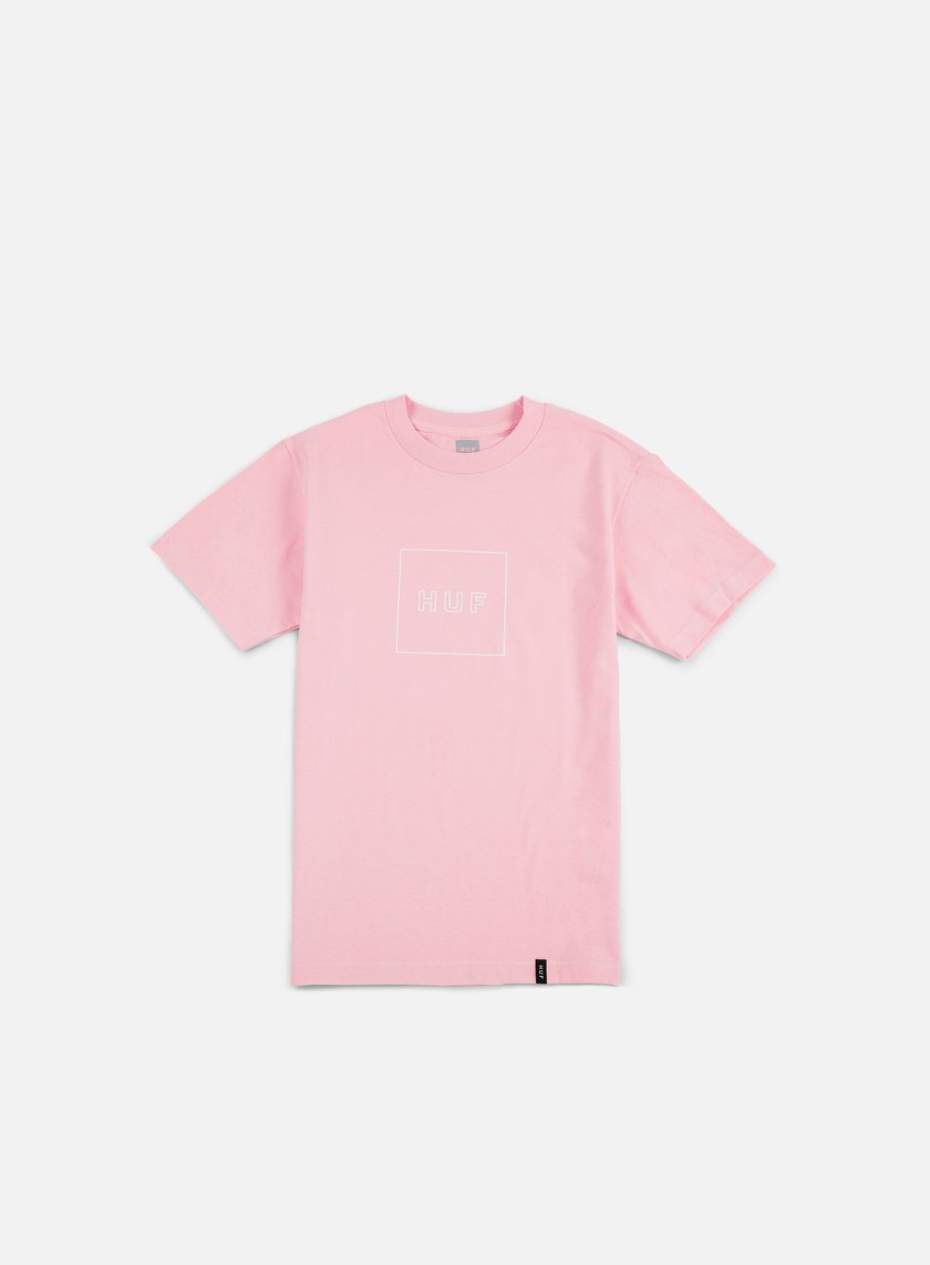 Huf - Box Logo Puff T-shirt, Pink